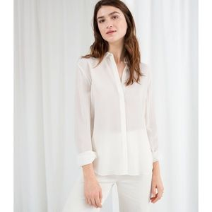 13f869772994a Other Stories Tops - Straight Fit Silk Shirt